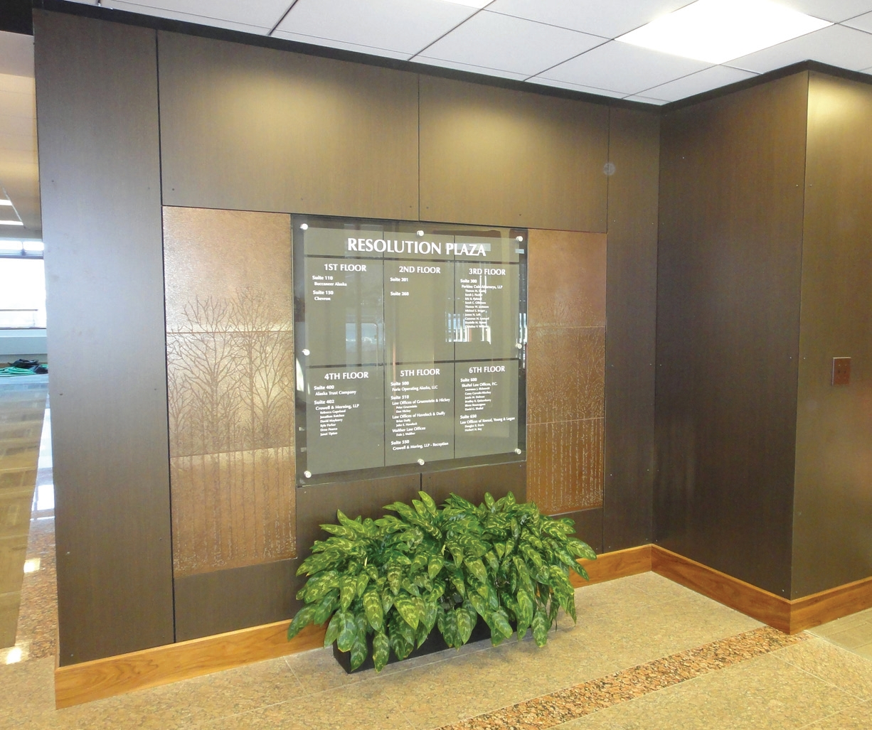57 Xanadu Stonewood Architectural Interior Panels Were Installed In The  High Traffic Entry Area At Resolution Plaza. Stonewood Architectural Panels  Are ...